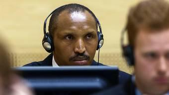 Der ehemalige Rebellenchef Bosco Ntaganda vor dem Internationalen Strafgerichtshof (ICC) in Den Haag