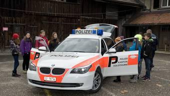 Über 100 Kinder schauten am Zukunftstag bei der Kantonspolizei Solothurn vorbei
