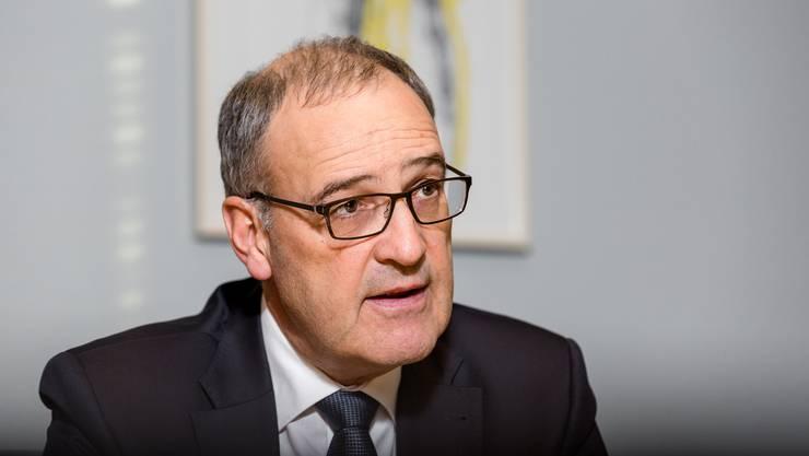 Interview mit Bundesrat und Verteidigungsminister Guy Parmelin (SVP).