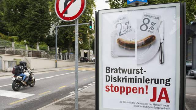 Plakat zur gescheiterten GastroSuisse-Initiative