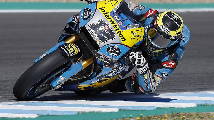 Tom Lüthi am Samstag auf dem Circuit in Jerez