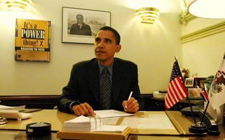 Erster Schritt in Richtung Präsidentschaft: Obama 1997 als Senator von Illinois