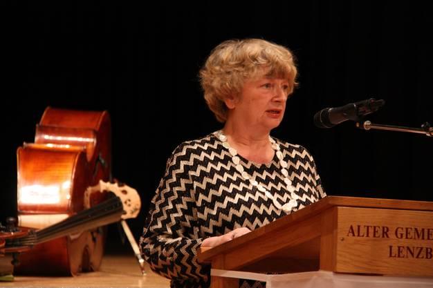 Marianne Tribaldos, neue Präsidentin des Einwohnerrats, hielt eine Rede