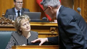 Finanzministerin Eveline Widmer-Schlumpf hatte im Nationalrat einen schweren Stand. Die grosse Kammer will bei der Landwirtschaft im kommenden Jahr nicht sparen.