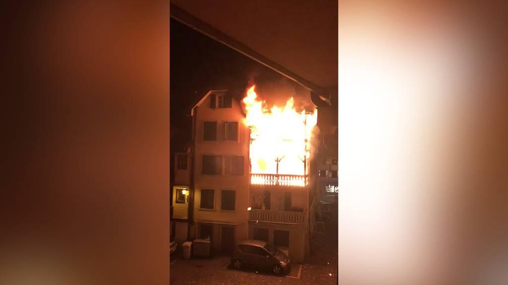 Brand mitten in Willisau (LU): Zwei Personen verletzt