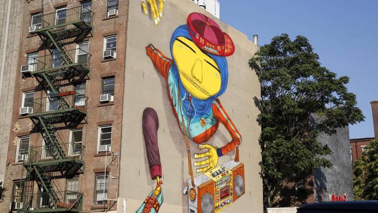 Street Art in New York: Hier werden ganze Häuser mit Kunst verziert.