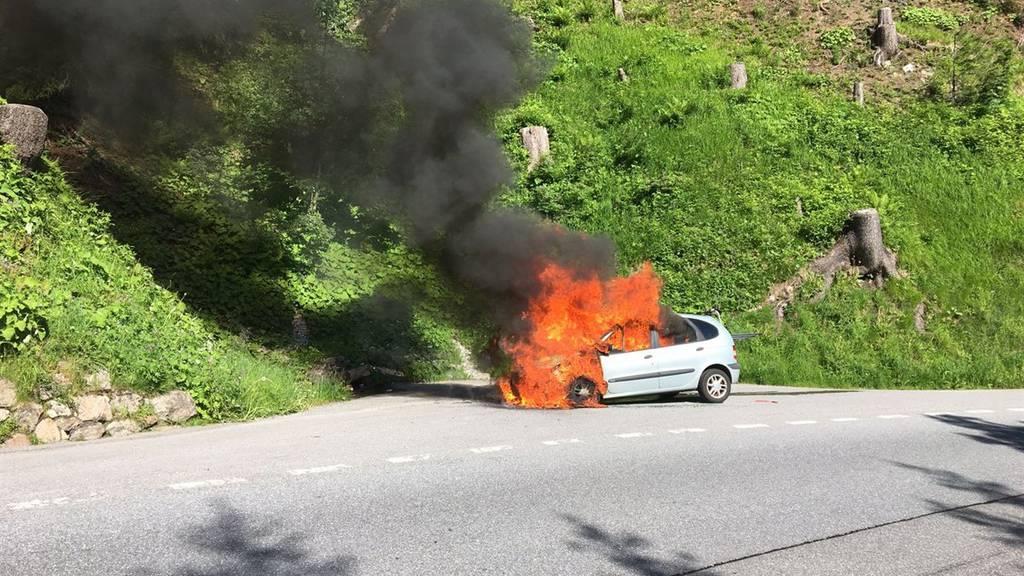 Die Insassen des Autos blieben unverletzt.