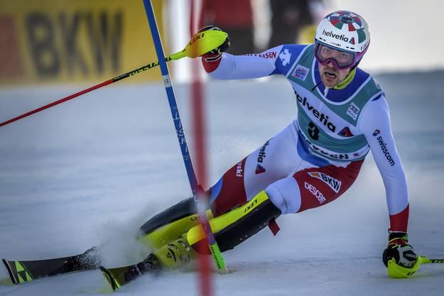Der Schweizer hat schon nach dem ersten Lauf geführt.