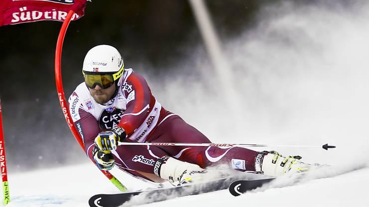 Kjetil Jansrud, hier im Riesenslalom vom Sonntag, gewinnt völlig überraschend den Parallel-Riesenslalom von Alta Badia
