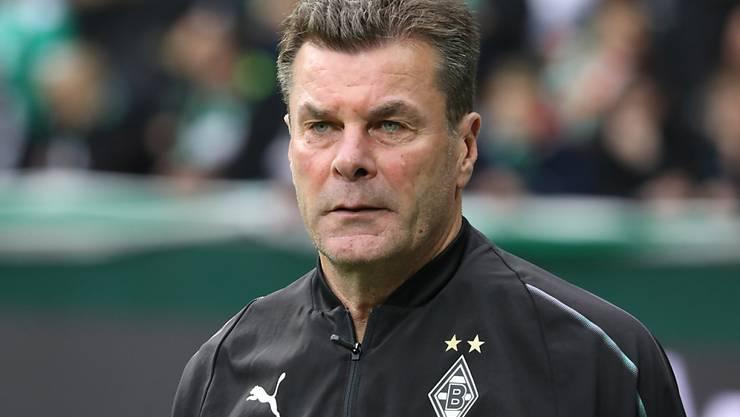 Steht seit Dezember 2016 bei Borussia Mönchengladbach an der Seitenlinie: Dieter Hecking