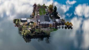 Hochwasser ist keine Seltenheit in der Schweiz: Immer wieder stehen Gebiete - wie hier die Magadino-Ebene - nach starken Regenfällen unter Wasser. (Archivbild)