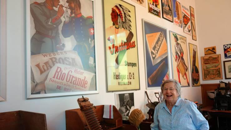Im Tabakmuseum Menziken gibt es unter anderem alte Werbeplakate zu bestaunen.