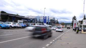 Die Rheinstrasse in Frenkendorf.
