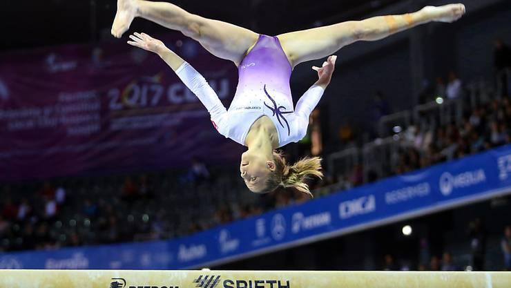 Lynn Genhart schaffte bei ihrer EM-Premiere gleich den Einzug in den Mehrkampf-Final
