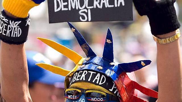 Demonstration gegen Chávez in Caracas
