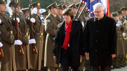 Micheline Calmy-Rey besuchte am Montag Kroatien und sprach mit dem Staatspräsident Ivo Josipovic über bilaterale Beziehungen