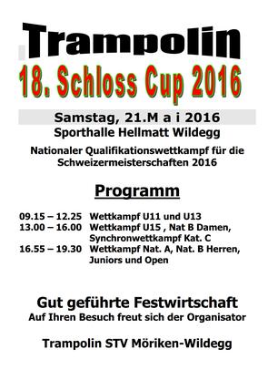 Plakat Schloss Cup Trampolin