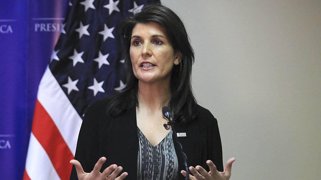 Sieht Russland hinter dem Giftgasangriff auf den früheren russischen Agenten in Grossbritannien: Nikki Haley, US-Botschafterin bei den Vereinten Nationen (Archivbild).