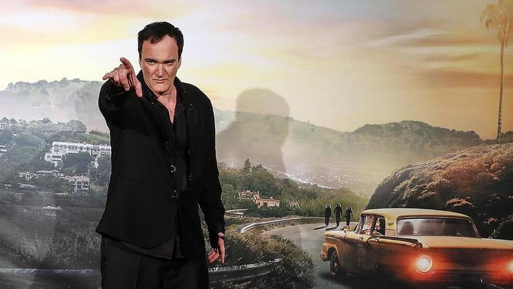 Regisseur Quentin Tarantino vor der Filmkulisse von «Once Upon a Time in Hollywood». Schon als Bub in Los Angeles hat er von Glamourwelt geträumt. (Bild:Key)