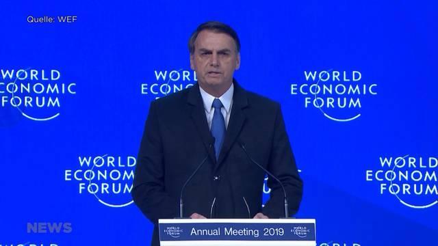 Kritikhagel für WEF-Besuch von Jair Bolsonaro