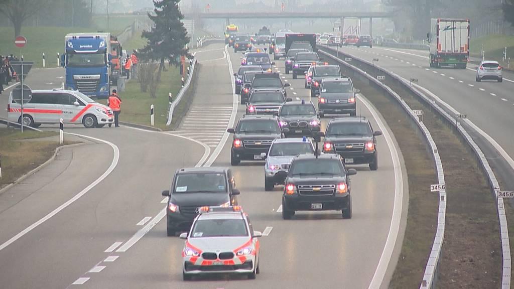 Wegen dichten Nebels: Trump nahm Auto statt Heli