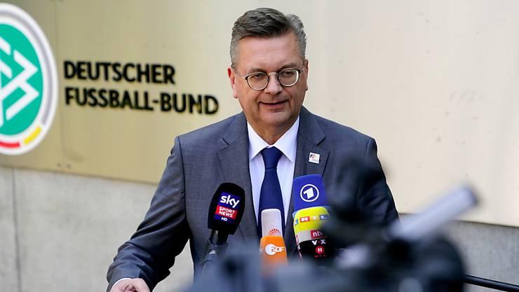 Wegen der Özil-Affäre unter Druck: DFB-Präsident Reinhard Grindel