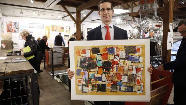 Zum zweiten Mal ist der Lausanner Patrick Martinez nach Solothurn an den Kunst-Supermarkt gereist.