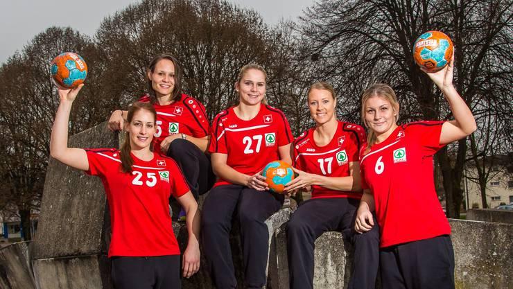 Schweizer Frauen-Nati in Aargauer Hand (v. l.): Noëlle Frey, Ariane Geissmann, Pascale Wyder, Nicole Dinkel und Lisa Frey.