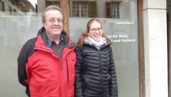 Den Wald schützen und nutzen. Diesen Leitsatz unterschreiben Ueli Stebler und seine Nachfolgerin, Kreisförsterin Daniela Gurtner.