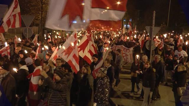 Demonstration für Moutier