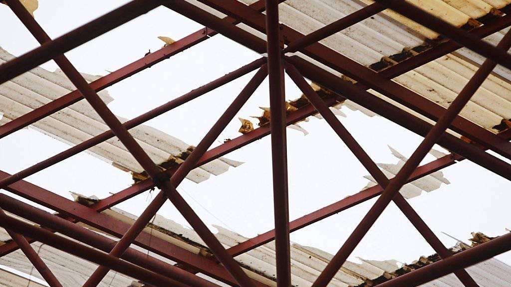 Der Sturm beschädigt die Stadiondächer von Vigo und La Coruña (hier La Coruña)
