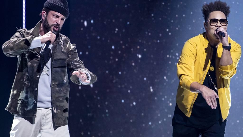 Virtuelle Live-Premiere: Am 13. Januar werden die Musiker Bligg und Marc Sway (hier beim gemeinsamen Auftritt an den Swiss Music Awards 2020) unter dem Namen Blay ihre erste gemeinsame Single präsentieren.