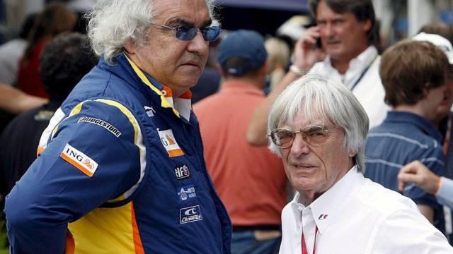 Ex-Renault-Teamchef Flavio Briatore und Formel-1-Boss Bernie Ecclestone