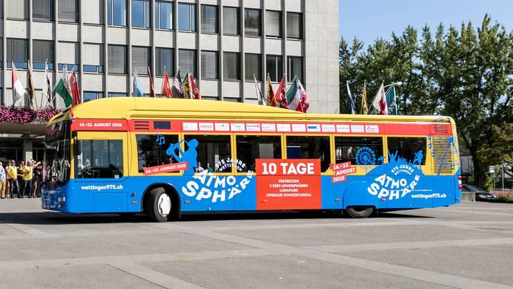 """Im Sommer 2019 erfolgte die Bustaufe des """"Atmosphäre""""-Bus der RVBVW."""