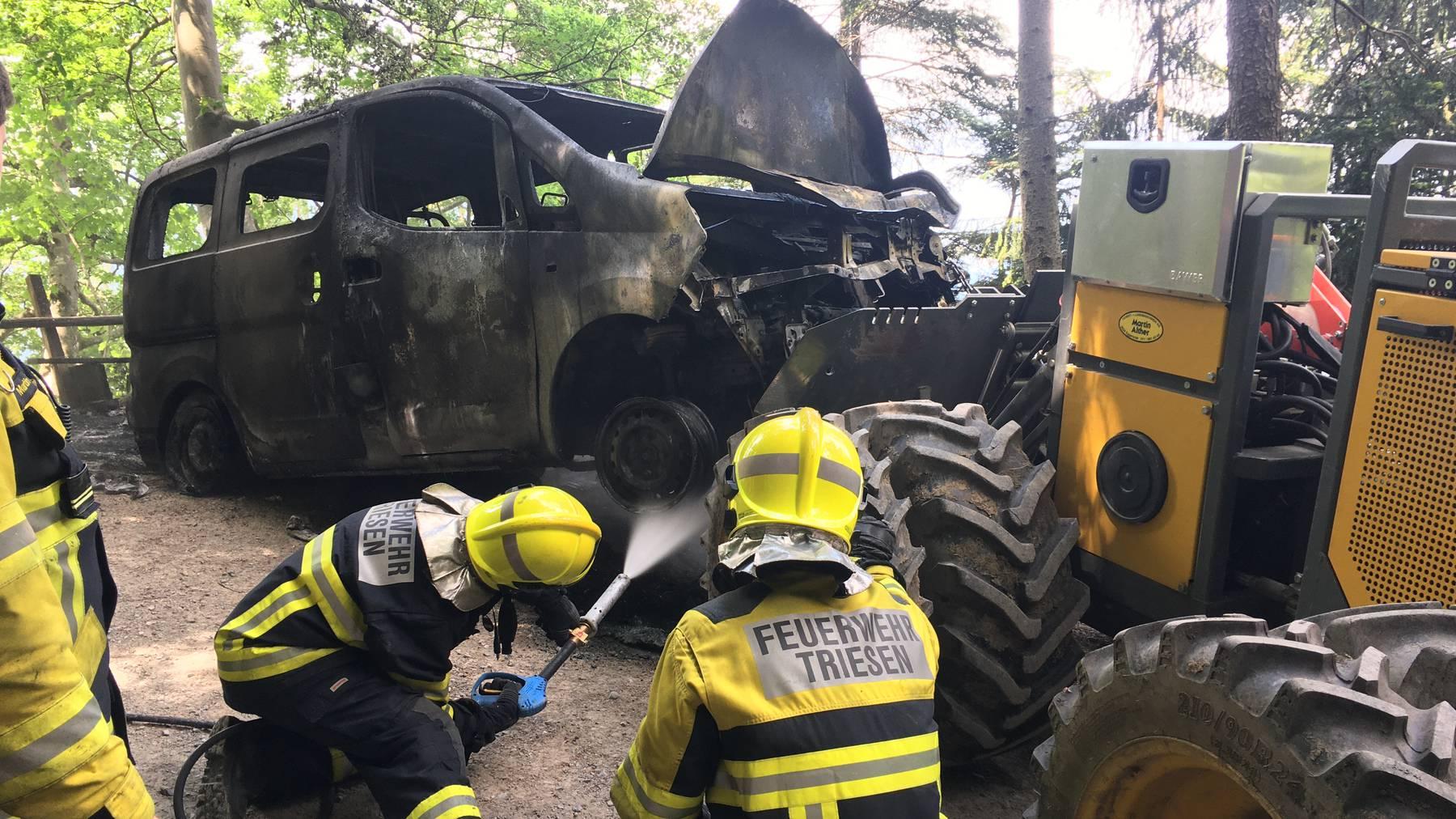 Autobrand in Triesen