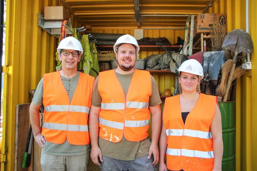 Die Unterstützer von der Kinder- und Jugendarbeiter: Christian Kressig, Markus Meier und Sarah Bayard. (v.l.n.r.) (Bild: FM1Today/Stefanie Rohner)
