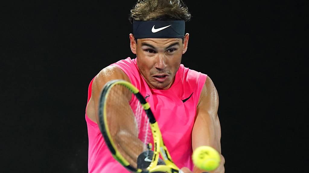 Rafael Nadal hatte seinen ersten Auftritt in diesem Jahr in der Night-Session im Melbourne Park