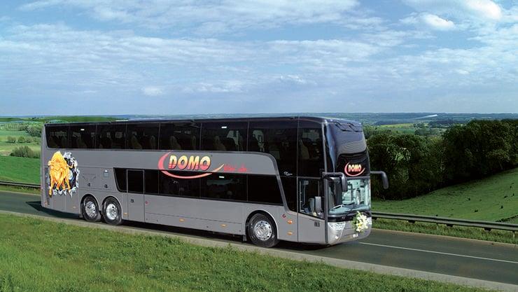 Domo Reisen bietet auch einen Linienbusverkehr nach Spanien an.