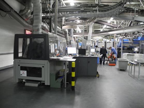 Um ca. 23.30 Uhr wurden die Maschinen für die Zeitung «Schweiz am Sonntag» hochgefahren