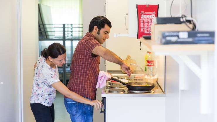 Hayder Yasar Kus hat in seiner Heimat als Koch gearbeitet. Er ist deshalb für die Essenszubereitung verantwortlich.