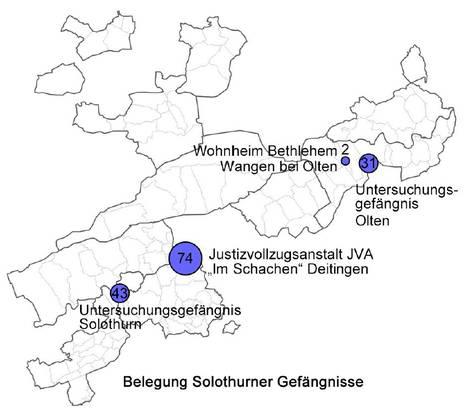 Karte Gefängnisse