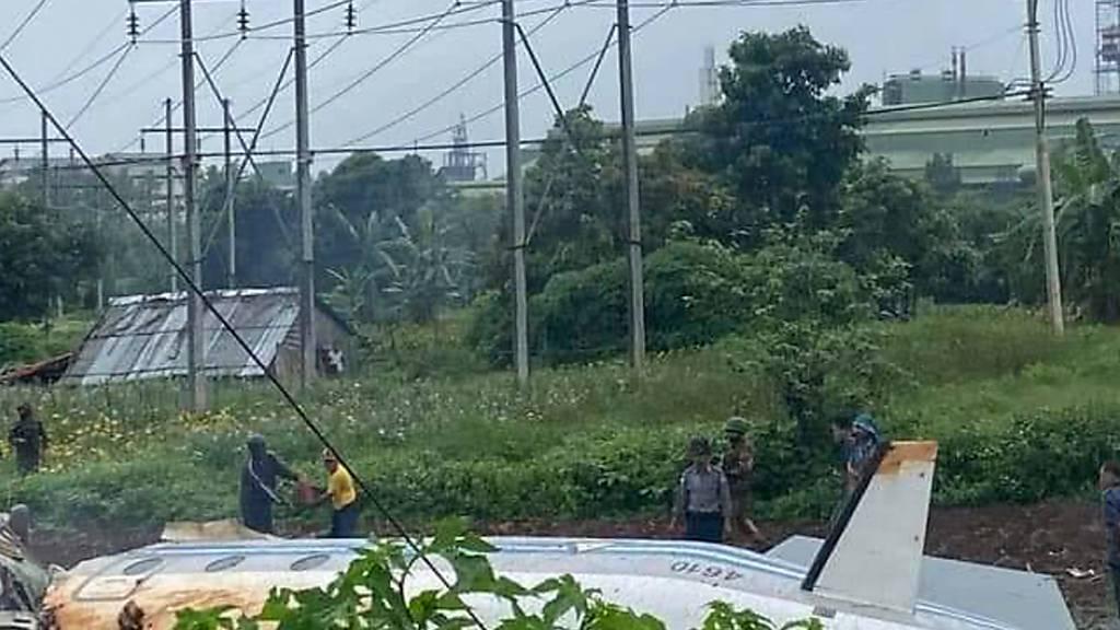 Militärflugzeug in Myanmar abgestürzt – mindestens zwölf Tote