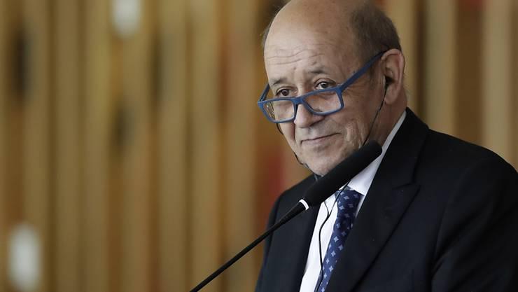 Frankreich brauche keine Erlaubnis, um sich über den Iran zu äussern, erklärte Aussenminister Le Drian. (Archivbild)