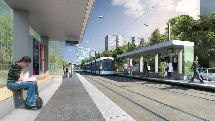 Die Trassierung der Limmattalbahn kommt den Plänen der SBB in die Quere. Nun wird nach einer pragmatischen Lösung gesucht. zvg