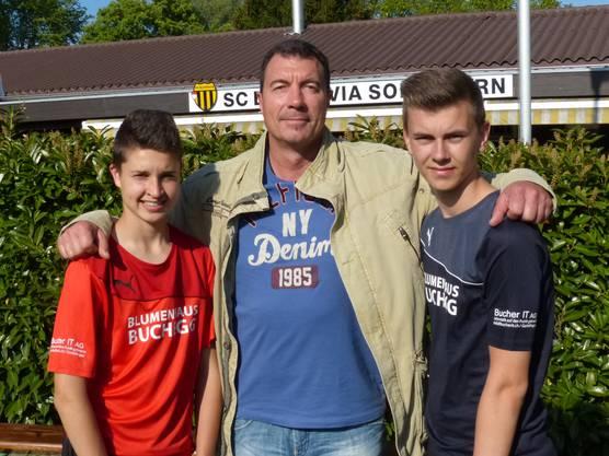 Ueli Bucher (Bucher IT AG) freut sich über die tollen C-Junioren.