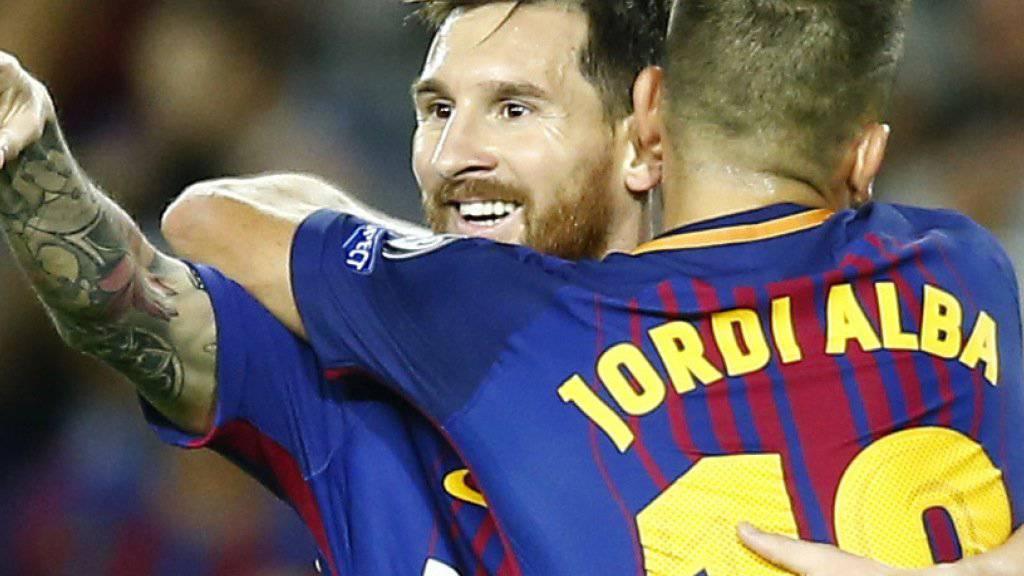 Lionel Messi trifft beim 3:0-Sieg von Barcelona gegen Juventus doppelt