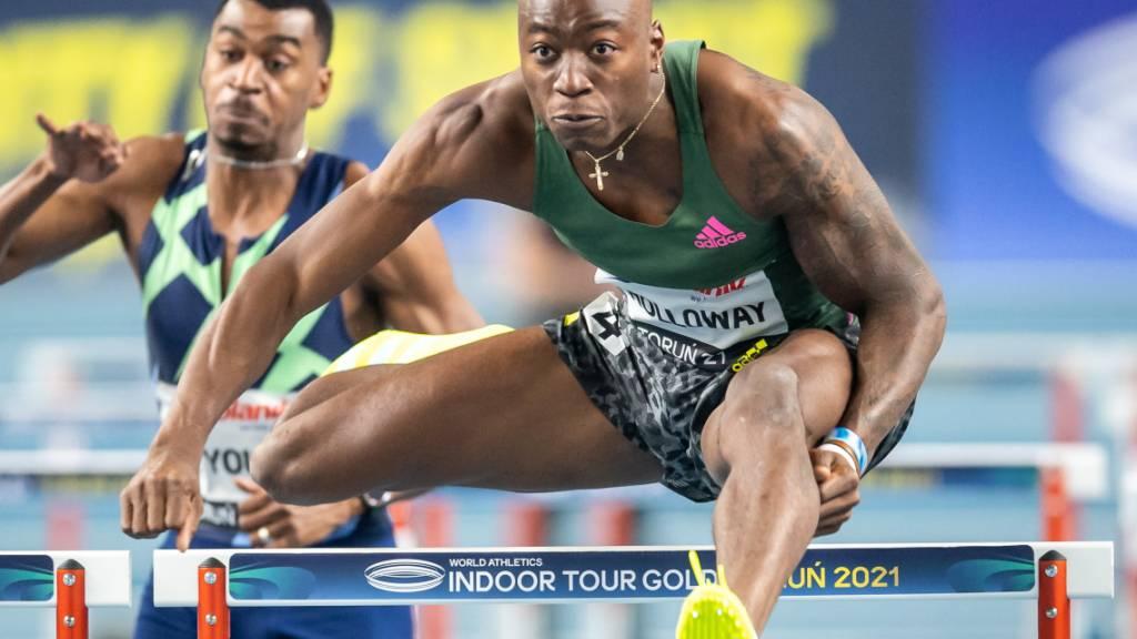 Grant Holloway läuft Hallen-Weltrekord