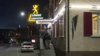 Hier im Gasthof «Löwen» in Kaltbrunn SG fand am Samstagabend die PNOS-Gründungsfeier statt