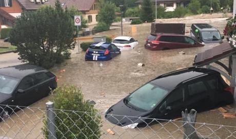 350 Notrufe 600 Elementarereignisse Im Aargau überschwemmungen Und
