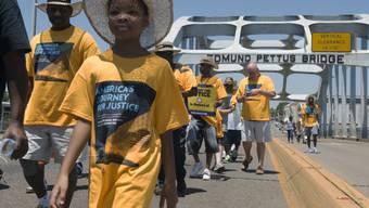 Bürgerrechtler begannen am Samstag einen zweiwöchigen Marsch von Selma nach Washington. Sie wollen damit auf diskriminierende Polizeikontrollen aufmerksam machen.